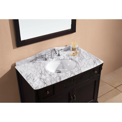 "Virtu Kaileena 40"" Single Sink Bathroom Vanity in Dark Walnut"