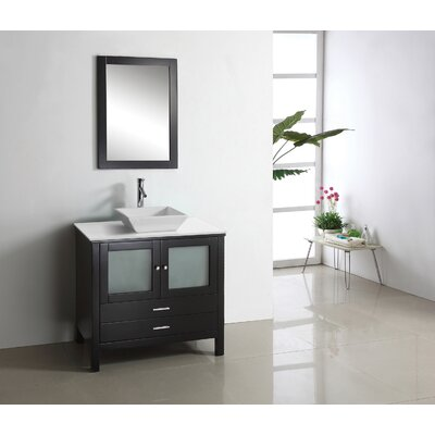 "Virtu Brentford 36.2"" Single Bathroom Vanity Set"