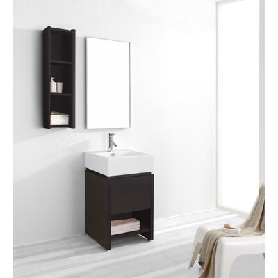 "Virtu Curtice 19.7"" Single Bathroom Vanity Set"