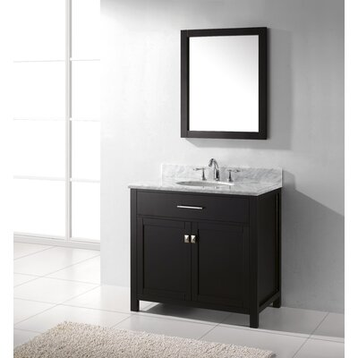 "Virtu Caroline 35.8"" Single Sink Bathroom Vanity Set"