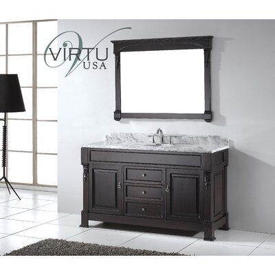 "Virtu Huntshire 59.25"" Single Sink Bathroom Vanity Set"