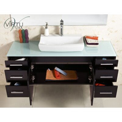 "Virtu Biagio 56"" Bathroom Vanity Set"