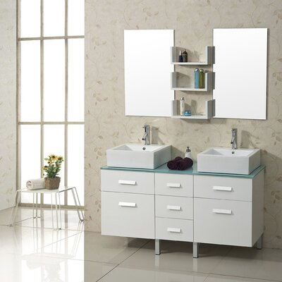 "Virtu Maybell 56.3"" Double Bathroom Vanity Set"