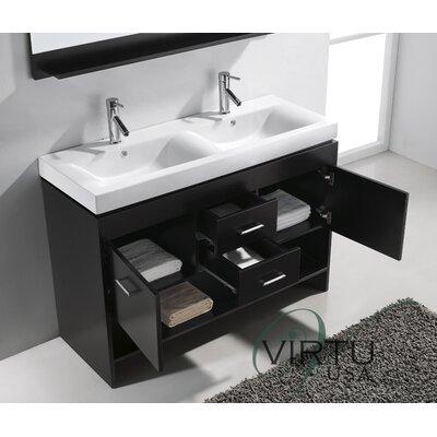 Virtu Gloria 47 Double Bathroom Vanity Set With Mirror Reviews