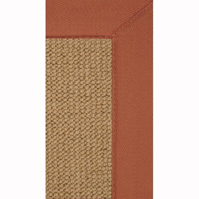 Linon Rugs Athena Sisal/Burnt Orange Rug