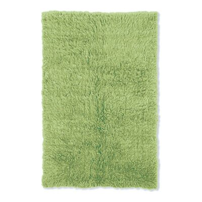 Flokati Lime Green Rug