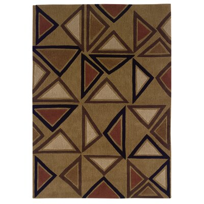 Linon Rugs Trio Tufted Camel/Brick Rug