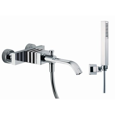 Fima by Nameeks Bio Shock Wall Mount Diveter Tub Faucet with Hand Shower