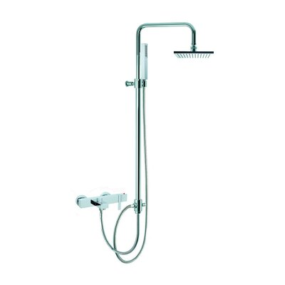 Fima by Nameeks Brick Chic Floor Mount Thermostatic Tub and Shower Faucet with Hand Shower