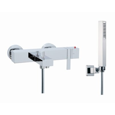 Fima by Nameeks Brick Wall Mount Thermostatic Tub Faucet with Hand Shower