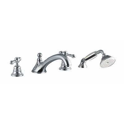 Fima by Nameeks Epoque Deck Mount Thermostatic Tub Faucet with Hand Shower