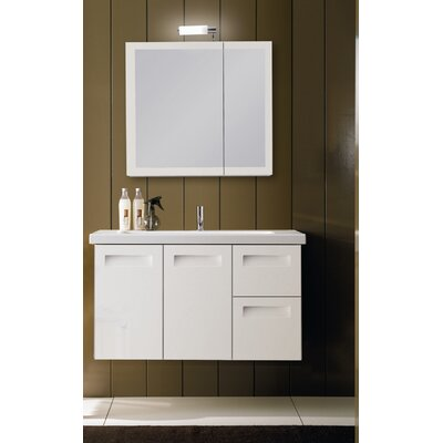 "Iotti by Nameeks Integral 39.3"" Wall Mounted Bathroom Vanity Set"