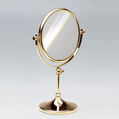 Free standing 7x magnifying mirror with optical grade for Standing glass mirror