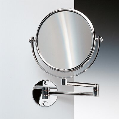 "Windisch by Nameeks 18.9"" Extendable Double Face Wall Mounted 7X Magnifying Mirror with Optical Grade"