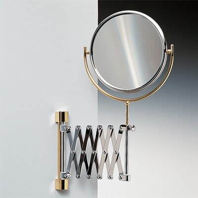 Double Face Wall Mounted Adjustable and Extendable 5X Magnifying Mirror