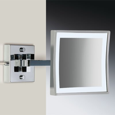 "Windisch by Nameeks 8"" Wall Mount 3X Magnifying LED Mirror with Two Arm"