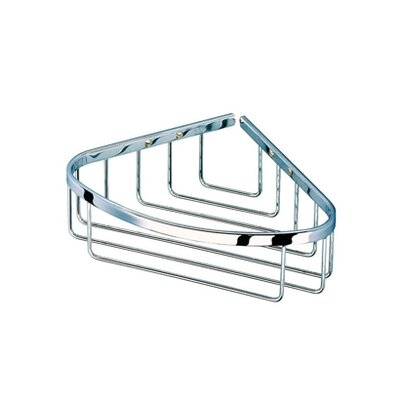 Geesa by Nameeks Basket Corner Shower Basket in Chrome