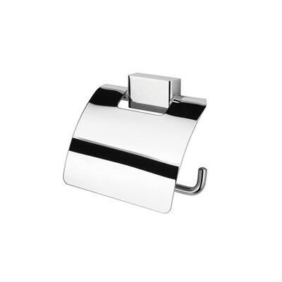 Geesa by Nameeks BloQ Wall Mounted Toilet Paper Holder in Chrome