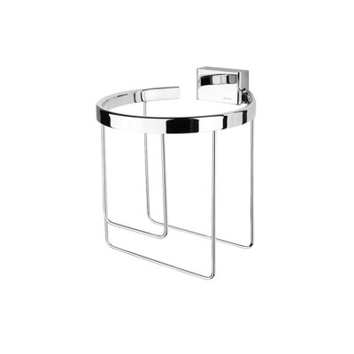 Geesa by Nameeks BloQ Spare Double Toilet Paper Holder in Chrome