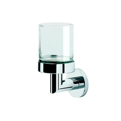 Geesa by Nameeks Circles Wall Mounted Tumbler Holder in Chrome