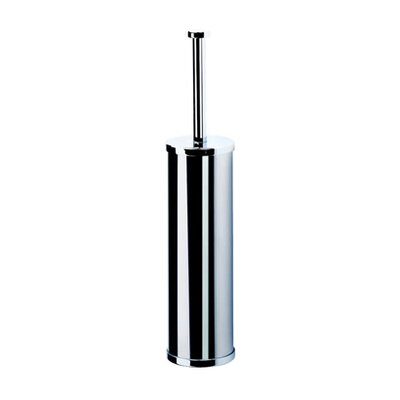 Geesa by Nameeks Circles Free Standing Toilet Brush Holder in Stainless Steel