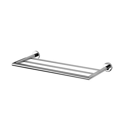 Geesa by Nameeks Circles Bath Towel Shelf Holder in Chrome