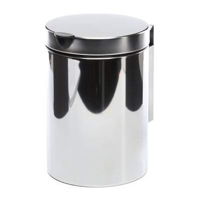 Geesa by Nameeks Standard Hotel Wall Mounted Waste Bin in Stainless Steel