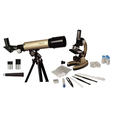 GeoVision Refractor Telescope and Microscope Set