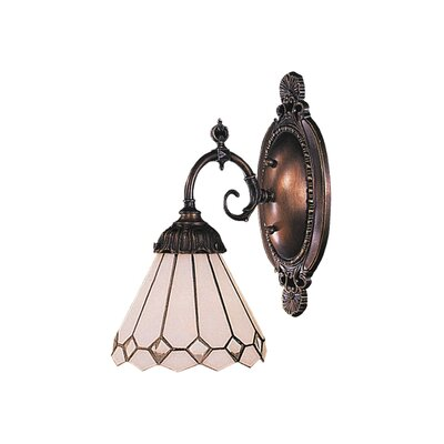 Landmark Lighting Mix-N-Match 1 Light Wall Sconce with Glass Shade