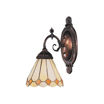 Landmark Lighting Mix-N-Match  Wall Sconce in Tiffany Bronze with Light Yellow Glass Shade