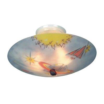 KidShine 3 Light Semi Flush Mount