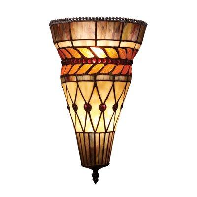 Landmark Lighting Glass Leaf 2 Light Wall Sconce | Wayfair