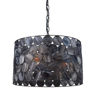 Landmark Lighting Capiza 3 Light Drum Pendant