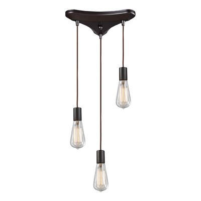 Landmark Lighting Menlow Park Pendant with Clear Glass