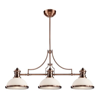 Landmark Lighting Chadwick 3 Light Billiard/Kitchen Island Pendant