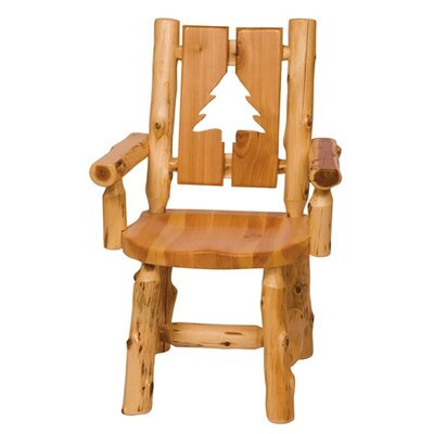 Fireside Lodge Traditional Cedar Log 5 Piece Dining Set