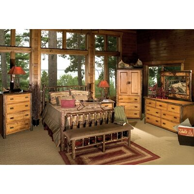 Fireside Lodge Hickory Slat Bedroom Collection