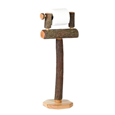 Fireside Lodge Hickory Free Standing Toilet Paper Holder