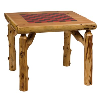 Fireside Lodge Traditional Cedar Log Game Table Set