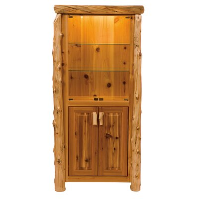 Traditional Cedar Log China Cabinet