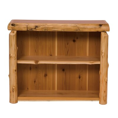 Fireside Lodge Traditional Cedar Log Bookshelf
