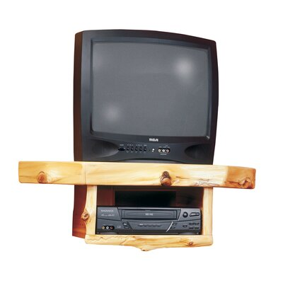 Traditional Cedar Log Corner TV Shelf - 14240 / 14241