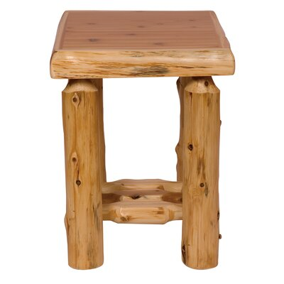 Fireside Lodge Traditional Cedar Log Nightstand