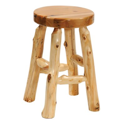 Fireside Lodge Traditional Cedar Log Accent Stool