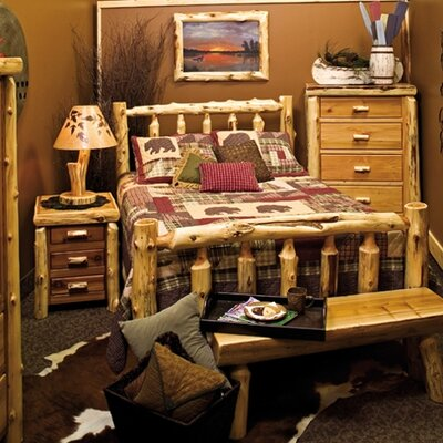 Fireside Lodge Traditional Cedar Log Slat Bedroom Collection