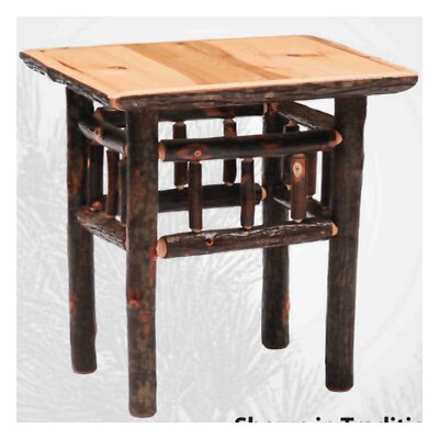 Fireside Lodge Hickory Open End Table in Espresso