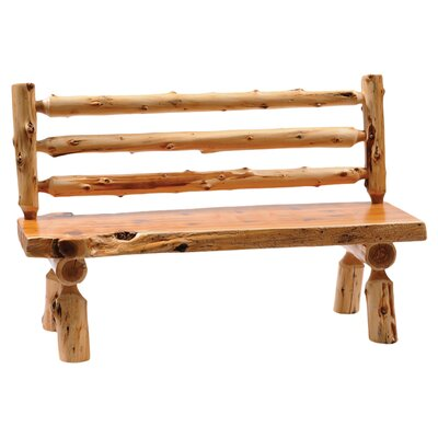 Fireside Lodge Traditional Cedar Log Bench