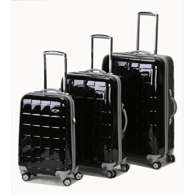 Rockland Celebrity 3 Piece Polycarbonate/ABS Spinner Luggage Set