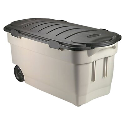 Roughneck Wheeled Storage Box Dark Indigo Metallic