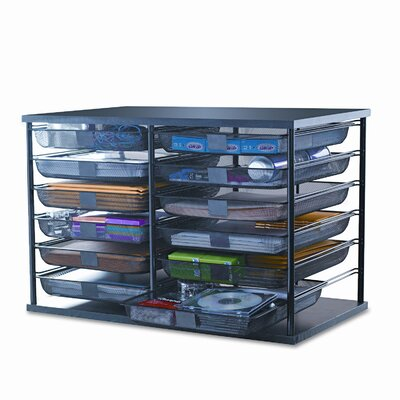 Rubbermaid 12-Compartment Organizer with Mesh Drawers